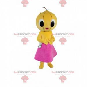 Maskot meloun s fuchsiovou sukní - Redbrokoly.com