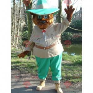 Braunbärenmaskottchen im Entdeckeroutfit - Redbrokoly.com