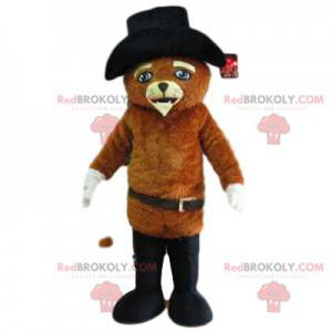 Puss in Boots mascot, with a touching look - Redbrokoly.com