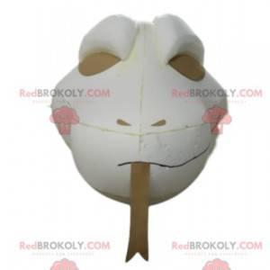 Hvid slange maskot hoved. Slange kostume - Redbrokoly.com