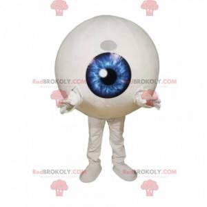 Mascotte occhio con un'iride blu elettrizzante - Redbrokoly.com