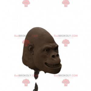 Cabeça do mascote do gorila marrom. Cabeça de fantasia de