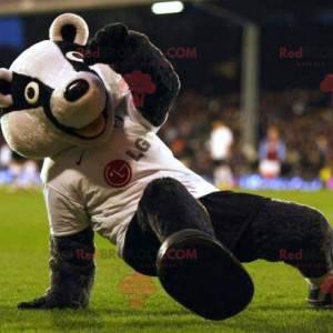Raccoon black and white bear mascot - Redbrokoly.com