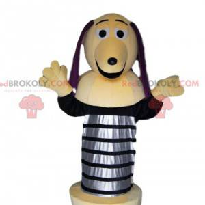 Dachshund mascot with a spring. Dachshund costume -