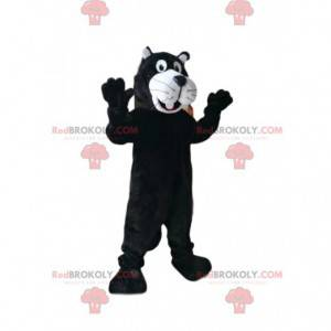 Black and white panther mascot. Panther costume - Redbrokoly.com