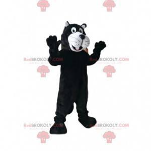 Svart og hvit panter maskot. Panther kostyme - Redbrokoly.com