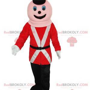 Soldado mascote da Guarda Real. Fantasia de soldado -