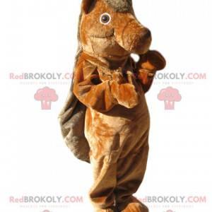 Mascotte castoro marrone. Costume da castoro - Redbrokoly.com