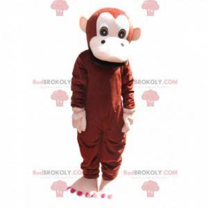 Hnědý a krémový opičí maskot. Opičí kostým - Redbrokoly.com