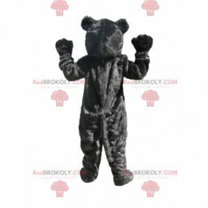 Black bear mascot with a red muzzle - Redbrokoly.com