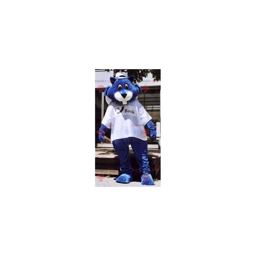Maskot modrý bobr - Redbrokoly.com