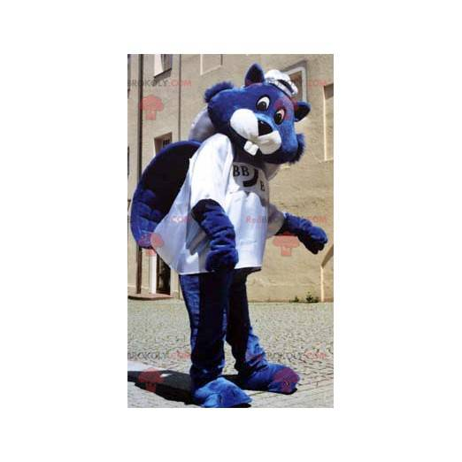 Blue beaver mascot - Redbrokoly.com