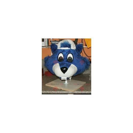 Maskotka niebieski bóbr - Redbrokoly.com