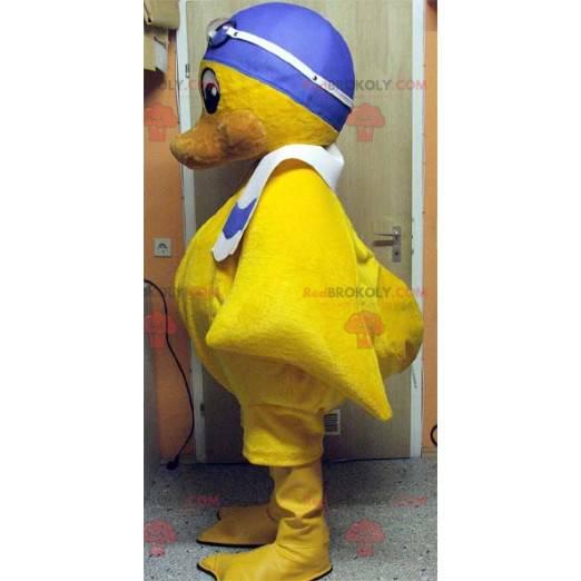 Maskott gul kylling med badehette - Redbrokoly.com