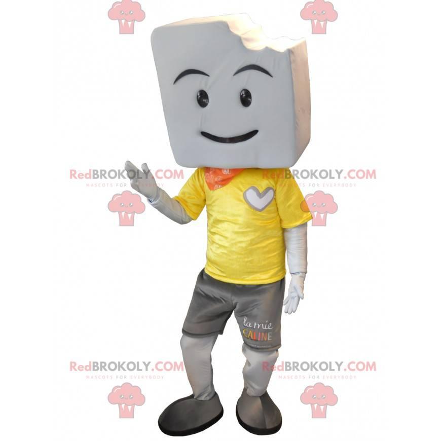 Velký obří bílý marshmallow maskot - Redbrokoly.com