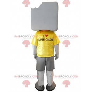 Big giant white marshmallow mascot - Redbrokoly.com