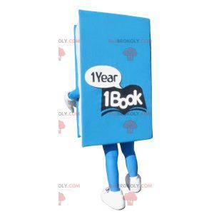 Riesiges blaues Buchmaskottchen - Redbrokoly.com