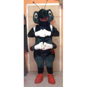 Mascote formiga preta e branca - Redbrokoly.com