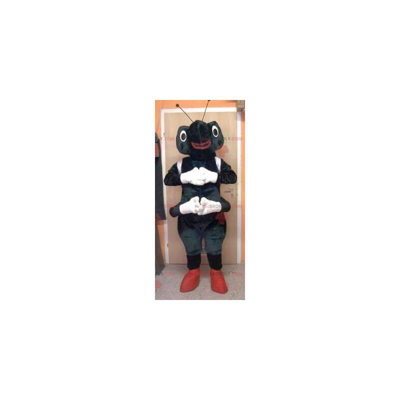 Schwarz-Weiß-Ameisenmaskottchen - Redbrokoly.com