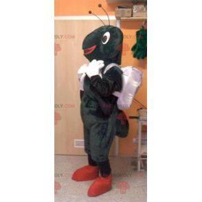 Black and white ant mascot - Redbrokoly.com