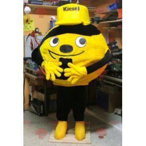 Maskot žluté nebo oranžové a černé koule - Redbrokoly.com