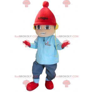 Liten gutt maskot på vinterferie - Redbrokoly.com