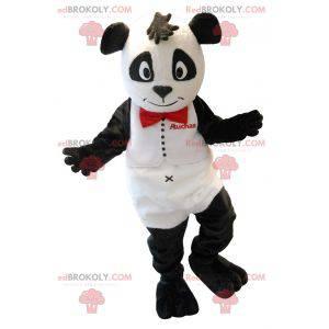 Mascote panda preto e branco - Redbrokoly.com