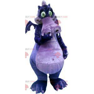 Mascota del dragón morado y morado - Redbrokoly.com