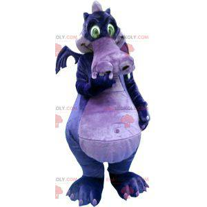Purple and purple dragon mascot - Redbrokoly.com
