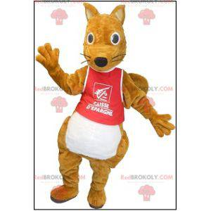 Plump og sød brun egern maskot - Redbrokoly.com