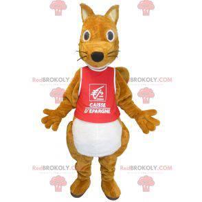 Plump og søt brun ekorn maskot - Redbrokoly.com