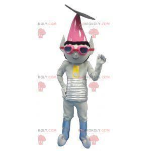 Metallic gray extraterrestrial troll mascot - Redbrokoly.com