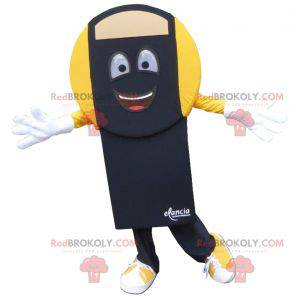 Black and yellow bathroom scale mascot - Redbrokoly.com