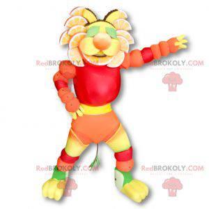 Mascote frutado multicolorido - Redbrokoly.com