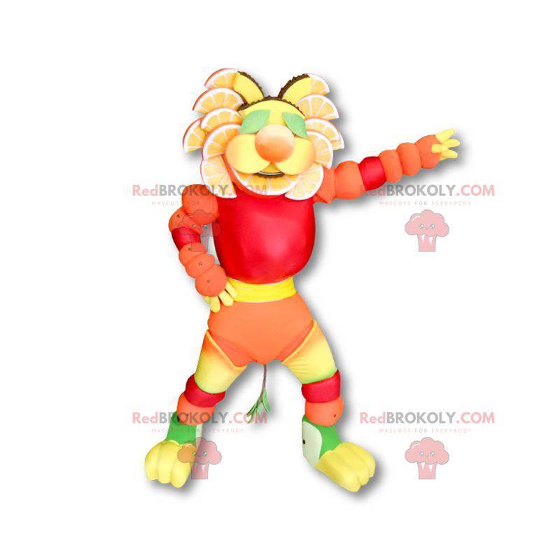 Flerfarget fruktig maskot - Redbrokoly.com
