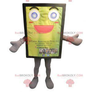 Yellow and jovial billboard mascot - Redbrokoly.com