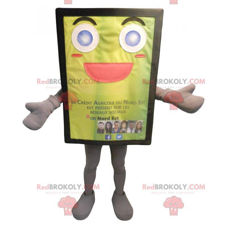 Gul og jovial billboard maskot - Redbrokoly.com