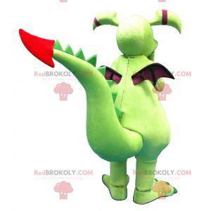 Zelený a fialový drak maskot - Redbrokoly.com