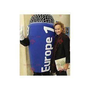 Obří modrý mikrofon maskot - Redbrokoly.com