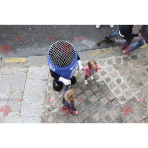 Giant blue microphone mascot - Redbrokoly.com