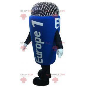 Kjempeblå mikrofonmaskot - Redbrokoly.com