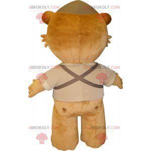 Braunes riesiges Teddybärmaskottchen - Redbrokoly.com