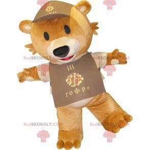Brown giant teddy bear mascot - Redbrokoly.com
