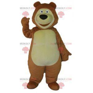 Mascot big brown and yellow bear very smiling - Redbrokoly.com