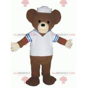 Medvěd hnědý maskot oblečený jako námořník - Redbrokoly.com