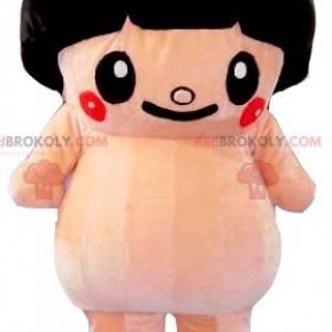 Duża różowa maskotka sumo z wycięciem w misce - Redbrokoly.com