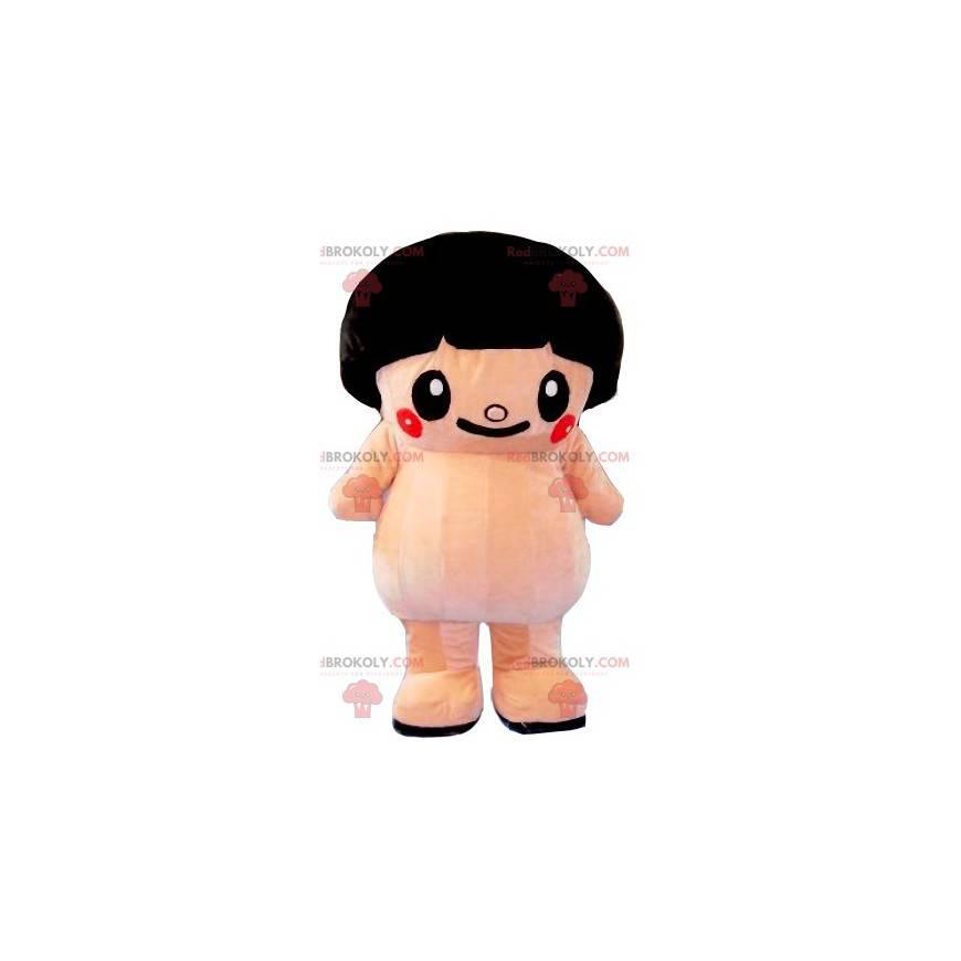 Velký růžový maskot sumo s miskou řezu - Redbrokoly.com