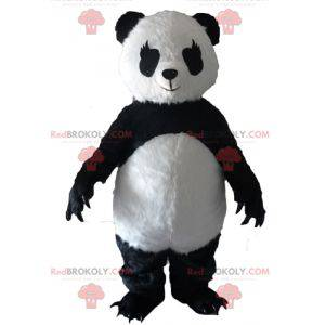 Czarno-biała maskotka panda z dużymi pazurami - Redbrokoly.com