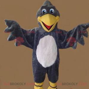 Yellow and white gray vulture mascot - Redbrokoly.com