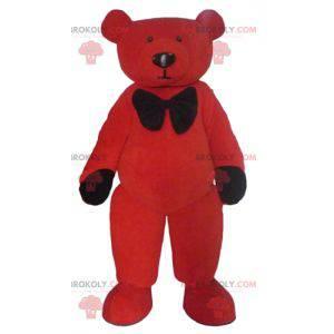 Rotes und schwarzes Teddybärmaskottchen - Redbrokoly.com